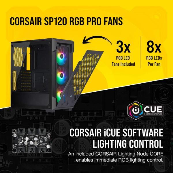 Case CORSAIR ICUE 220T AirFlow RGB ATX Mid-Tower black