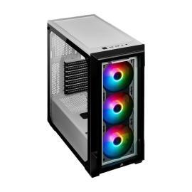 Corsair iCUE 220T RGB Mid-Tower PC Smart Case- White, CC-9011191-WW