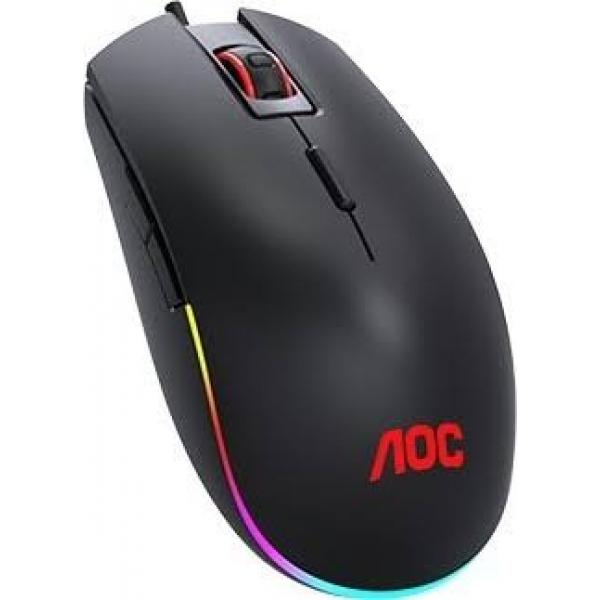 AOC GM500 Gaming Mice, 8 Button, 5000 DPI, RGB - Black | GM500