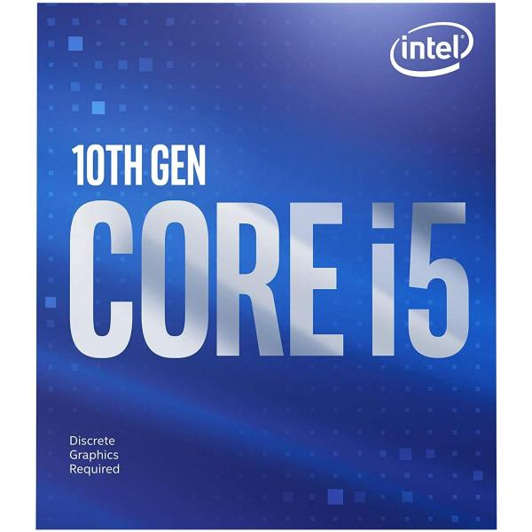 Intel Core i5-10400F Desktop Processor 6 Cores up to 4.3 GHz Without Processor Graphics LGA1200 (Intel 400 Series chipset) 65W, Model Number: BX8070110400F