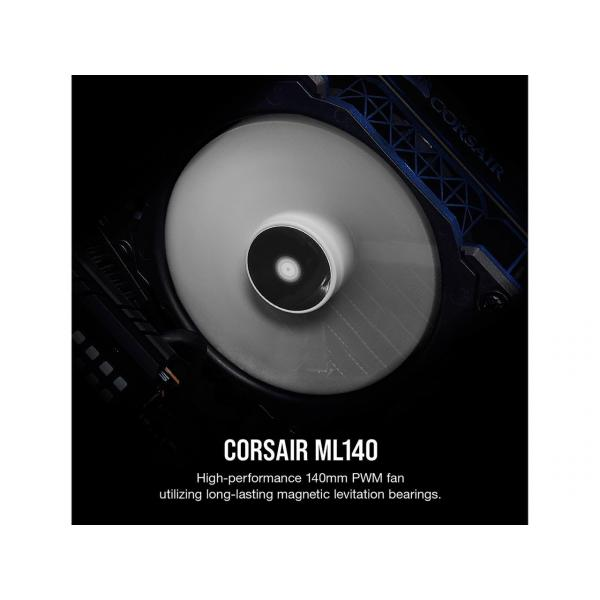 CORSAIR ML140, 140mm Premium Magnetic Levitation Fan, Single Pack, CO-9050050-WW