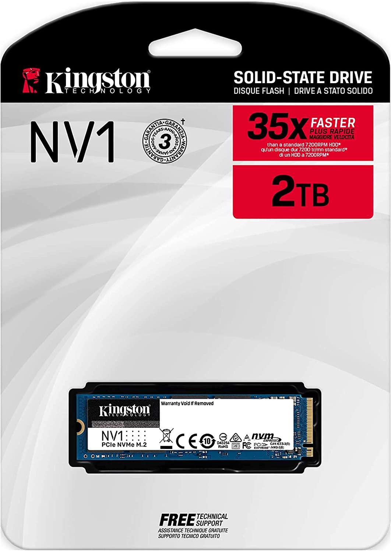اس اس دي كينجستون 2 تيرا بايت NVMe موديل NV1