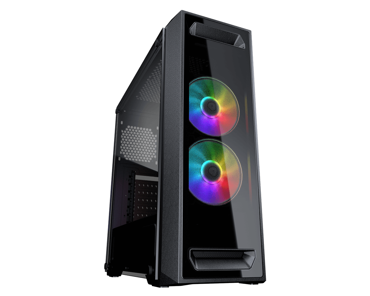 Cougar Gaming Case MX350 RGB Mid-Tower 2 RGB Fans, Tempered glass