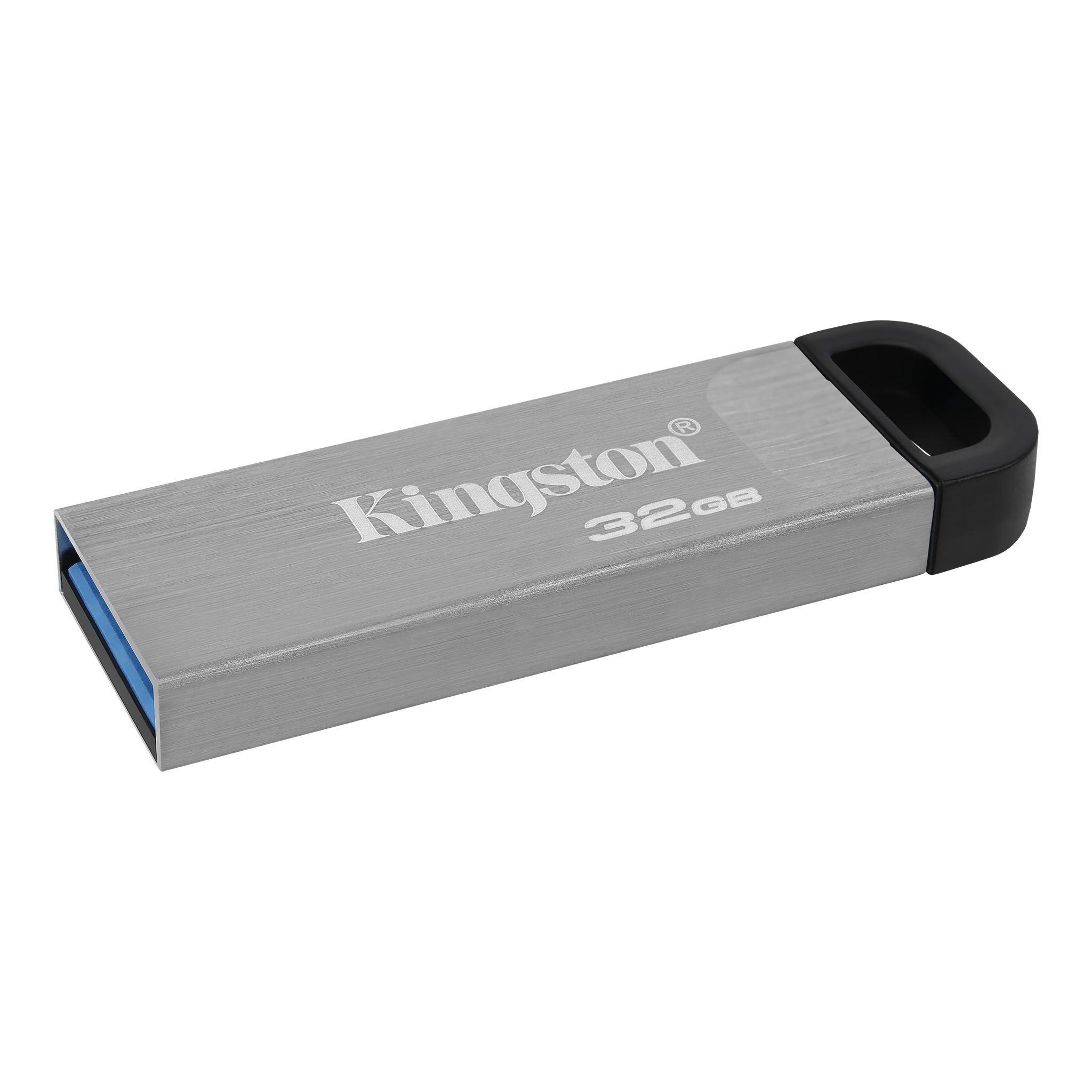 Kingston USB 3.0 Flash Drive 64 GB with Stylish Capless Metal Case DTKN/64G